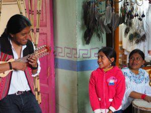 Indigenous Musician Workshop Otavalo, Ecuador