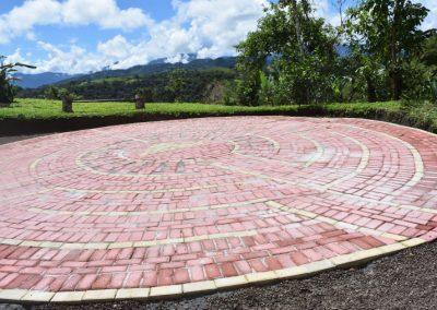 Labyrinth on Above the Clouds Farm, Ecuador