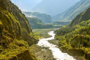 River in subtropics of Ecuador