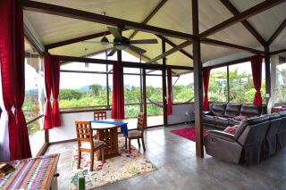 Above the Clouds Guest House living area, Gualea, Ecuador