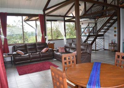 Sit and relax in the living room at Above the Clouds Guesthouse, Nanegalito, Ecuador